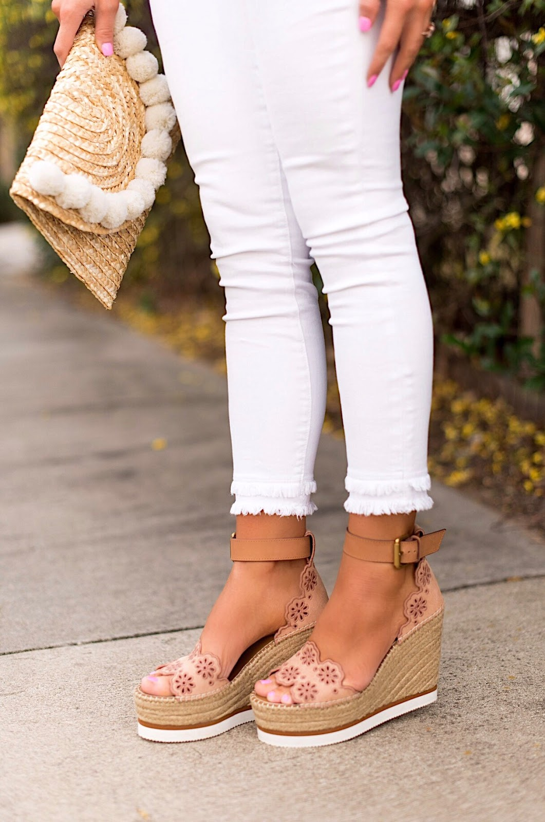LOFT Double Frayed Hem Jeans - Click through to see more on Something Delightful Blog