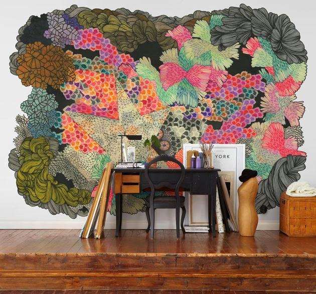 Ide Unik Dekorasi Wallpaper Dinding Artistik  Rancangan Desain Rumah Minimalis