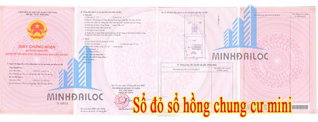 Mẫu sổ hồng đã làm được của Minh Đại Lộc