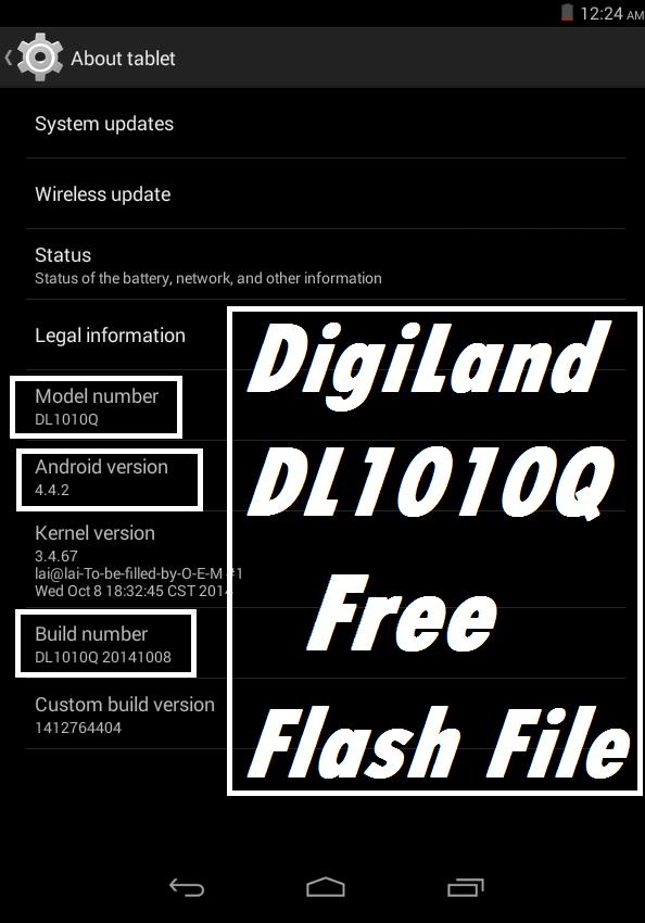 Oasis Telecom: DIGILAND DL1010Q Tab Firmware Flash File