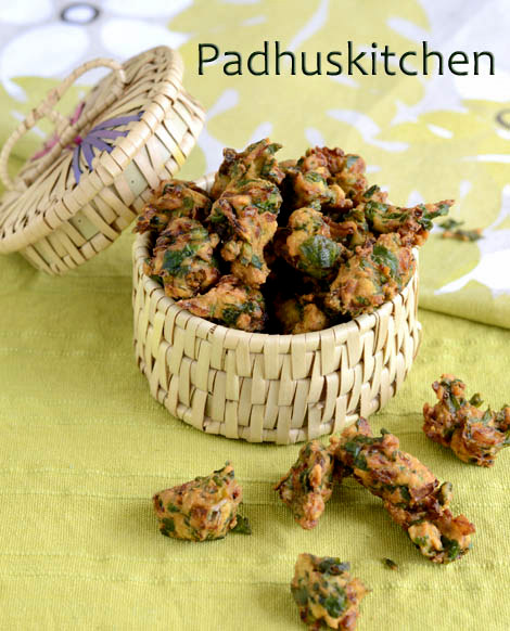 Palak Pakoda-spinach pakora