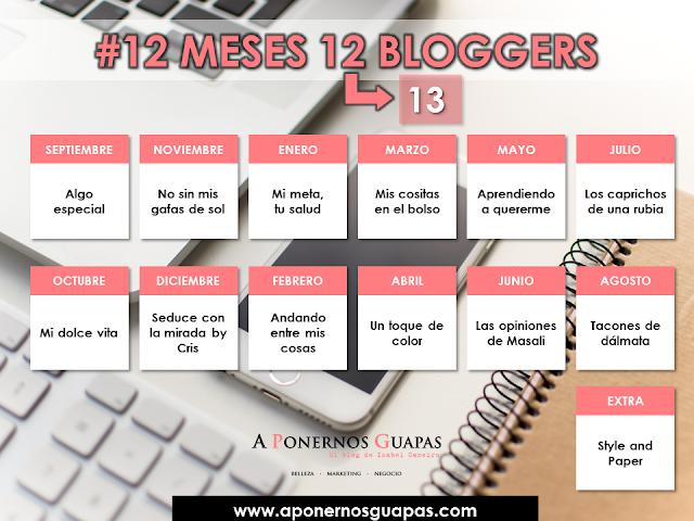 participantes #12meses12bloggers Oriflame A Ponernos Guapas