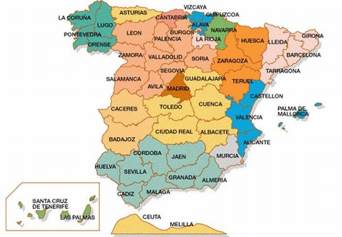 A Coruña Mapa España.Sixth Grade March 2019