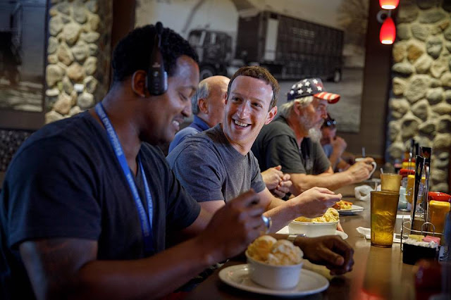 Mark Zuckerberg visiting small towns in Iowa, US