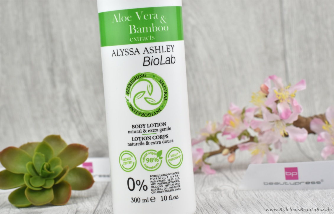 beautypress News Box Februar 2017 - Alyssa Ashley BioLab Aloe Vera & Bambus Bodylotion