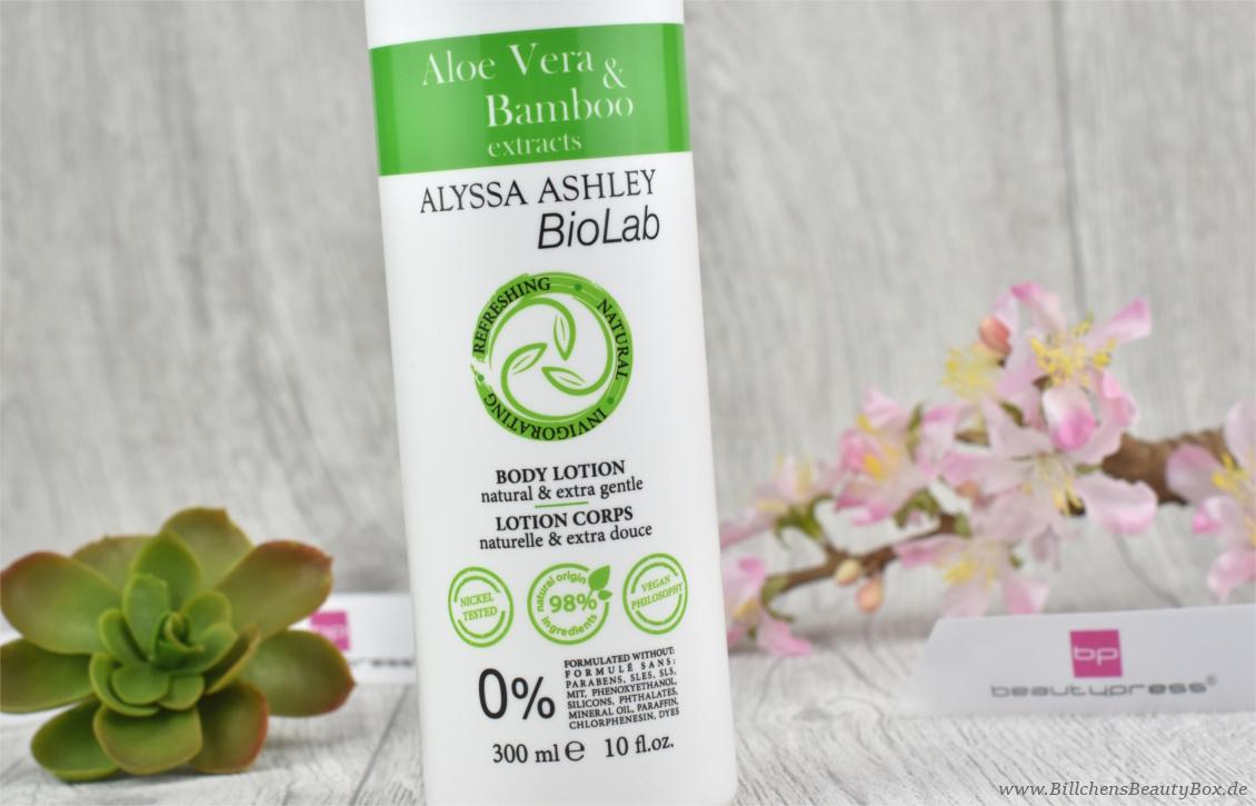 beautypress News Box Februar 2017 - Alyssa Ashley BioLab Aloe Vera & Bambus Bodylotion