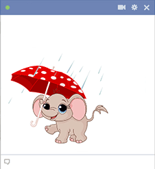 Umbrella Elephant Sticker