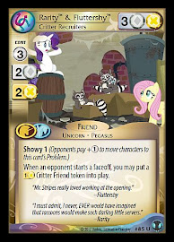 My Little Pony Rarity & Fluttershy, Critter Recruiters Defenders of Equestria CCG Card