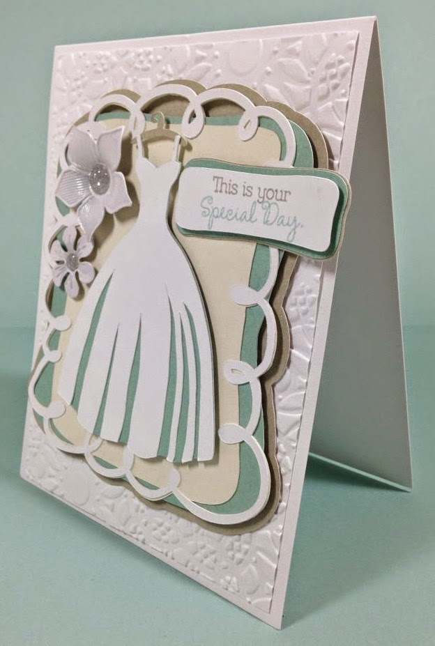 Cricut Wedding card sideview