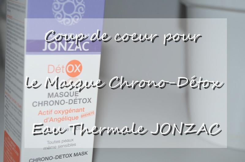 Masque Chrono-Détox JONZAC avis