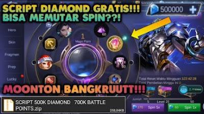 script diamond gratis mobile legend
