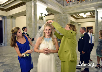 St Louis City Hall Elopement veil