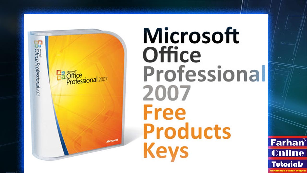 microsoft office professional 2007 download with product key