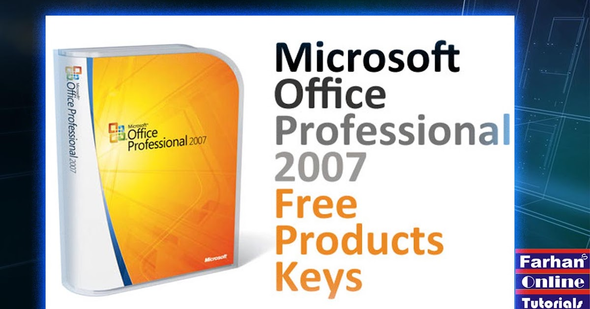 ms office 2007 product key online