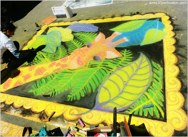 Jirafa Chalk on the Walk en la MayFair 2016