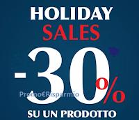 Logo Pittarello Fidelity ''Holiday Sales'': - 30% di sconto su un prodotto a tua scelta