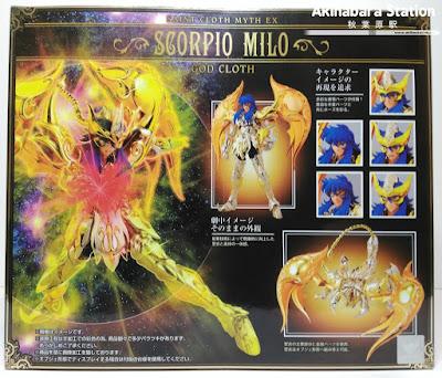 Saint Cloth Myth EX Scorpio Milo God Cloth - Tamashii Nations