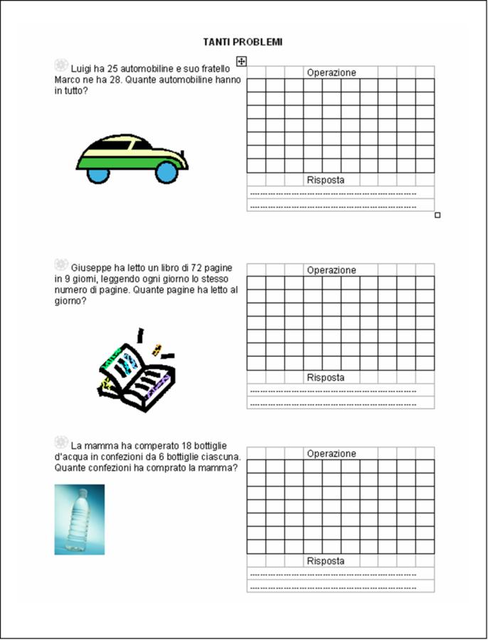 didattica matematica scuola primaria: Tanti problemi ...