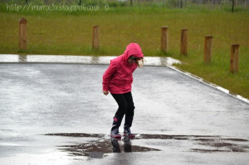 Splashing in puddles @ up and downs smiles and frowns