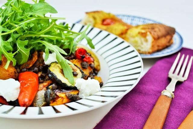 Roast Vegetable, Puy Lentil and Arugula Salad