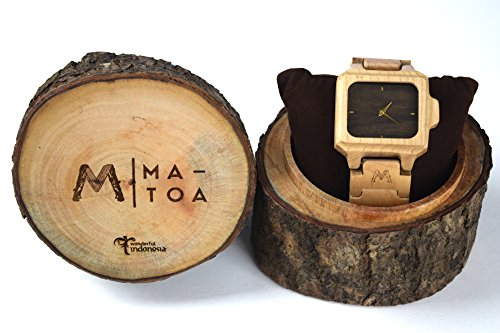 Tinuku Store Matoa Sumba natural maple wood watches for men and women