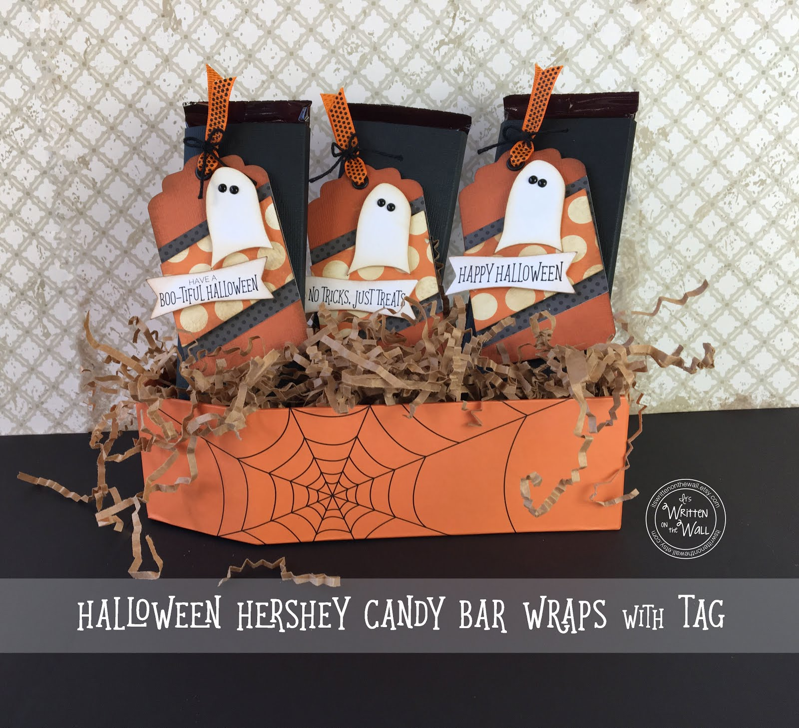Halloween Ghost candy bar wraps
