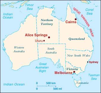 Carte Australie Ayers Rock.Australia Train Your Ears