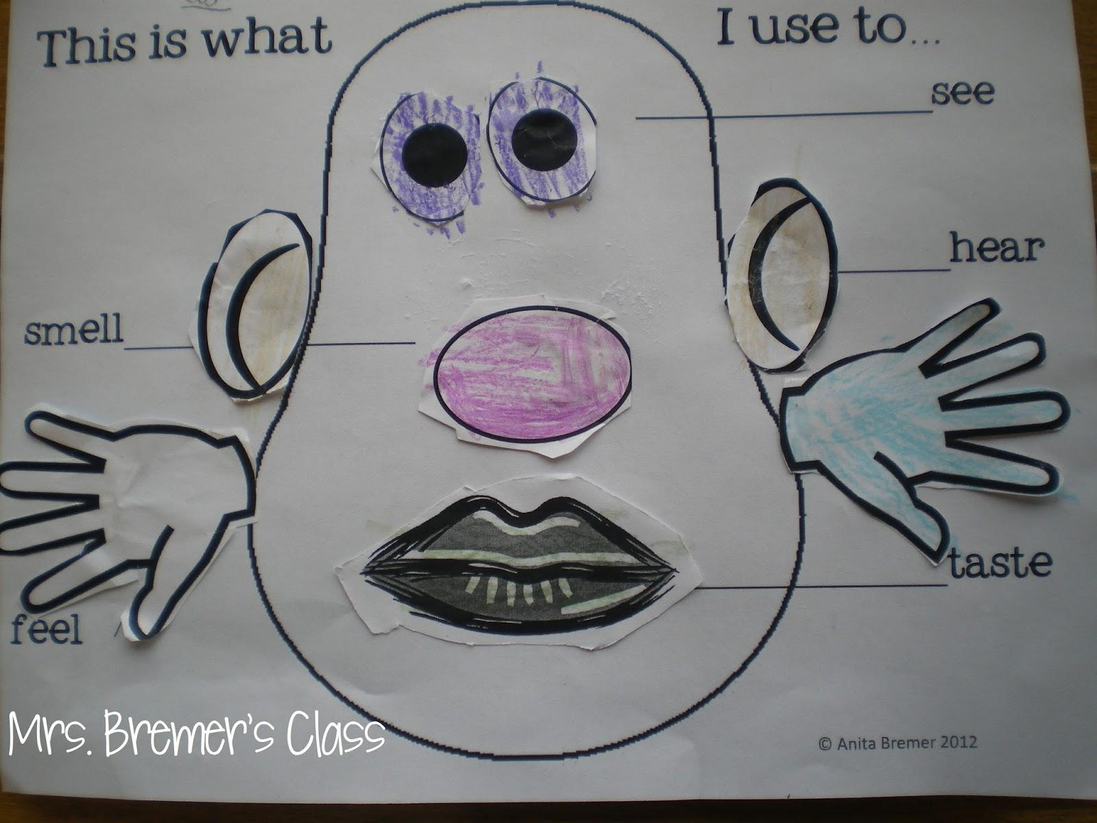 Mrs Bremer S Class 5 Senses Potato Head And We Can Do It Freebie