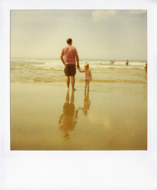 Old expired Polaroid taken at Kijkduin, the Netherlands
