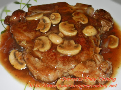 Steak with Mushroom and Oyster Sauce