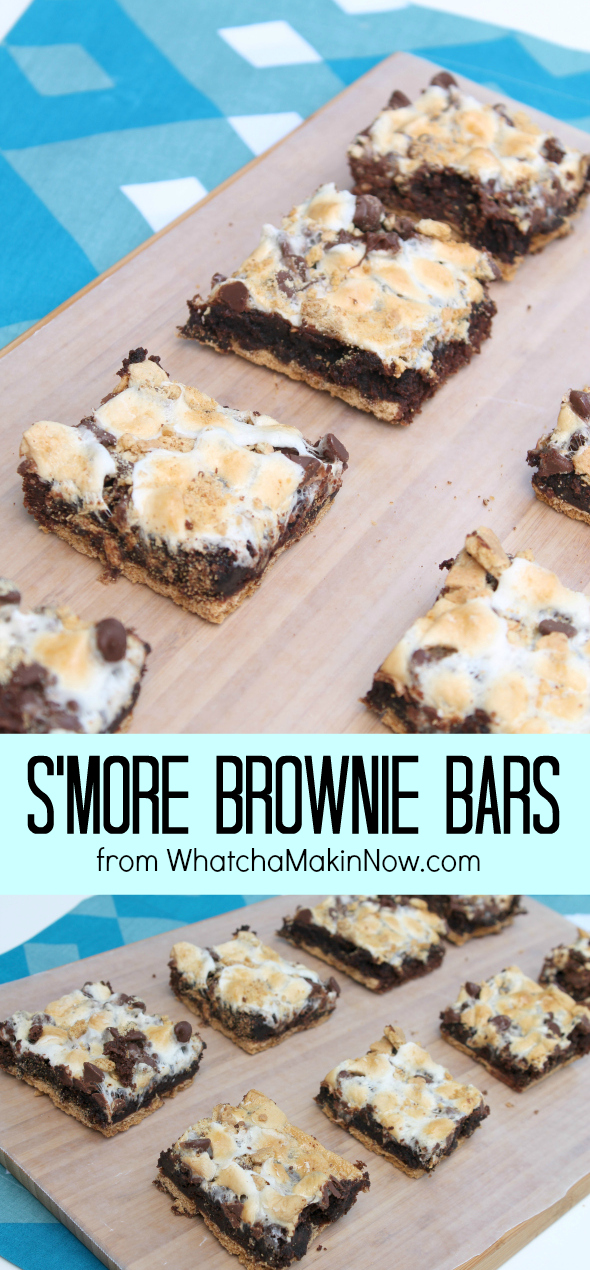 S'More Brownie Bars - perfect treat for your summer parties!