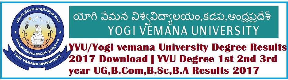 YVU-UG-BCom-BSc-BA-Degree-Results-2017-Download-YVU-Degree-1st-2nd-3rd-year-Results-2017