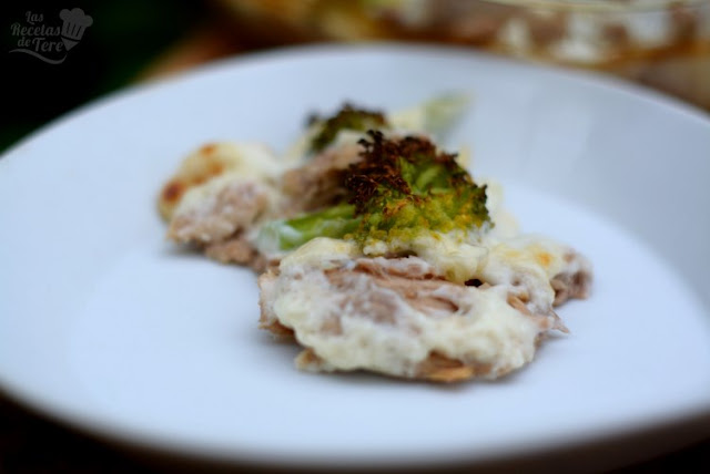 Brócolis con bachamel y atún al horno tererecetas 03