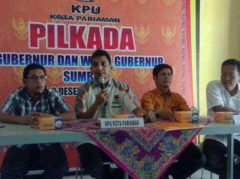 KPU Kota Pariaman Pangkas Anggaran Pilkada