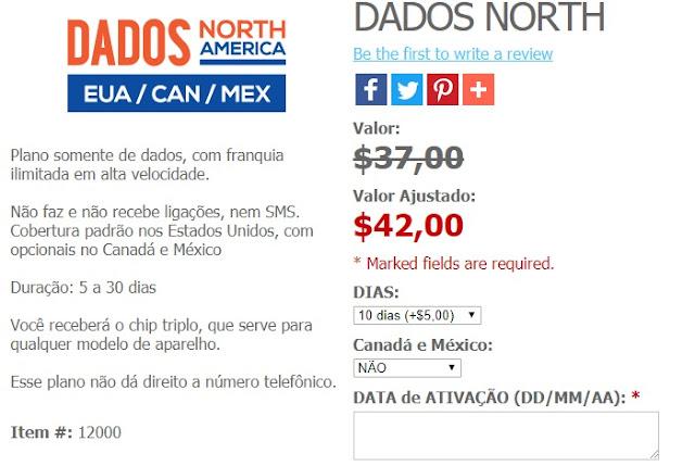 Plano DADOS North America
