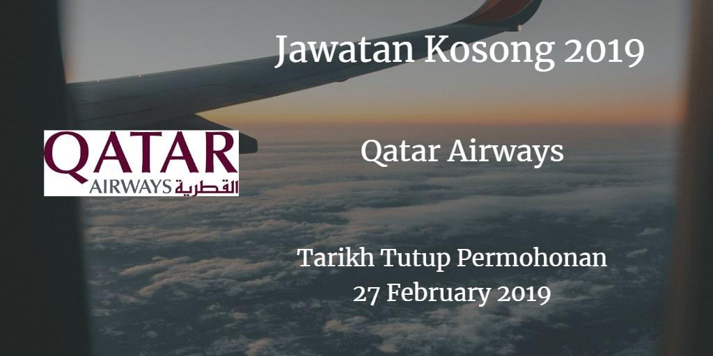 Jawatan Kosong Qatar Airways 27 February 2019