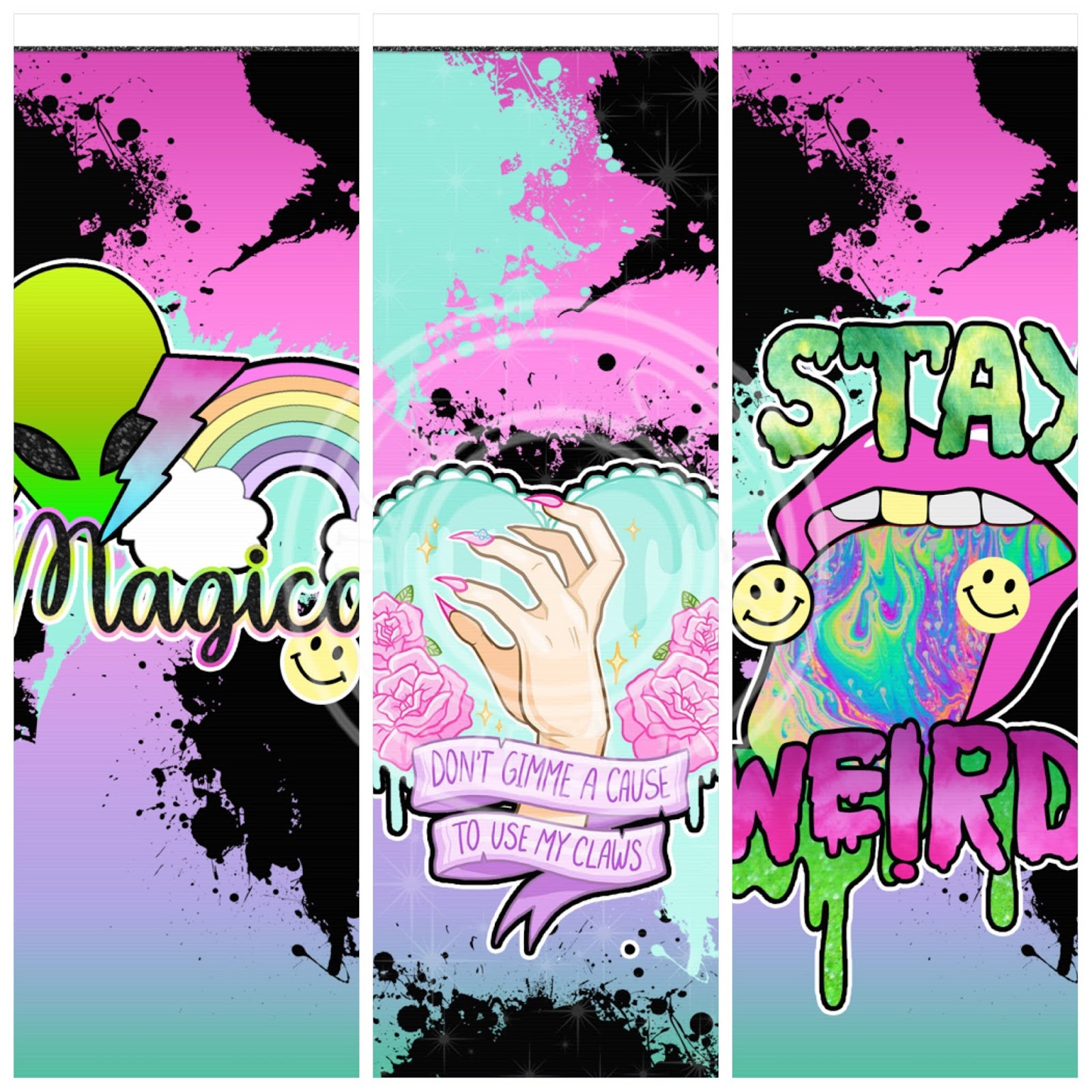 Stay Weird 6 Piece Wallpaper Set 250