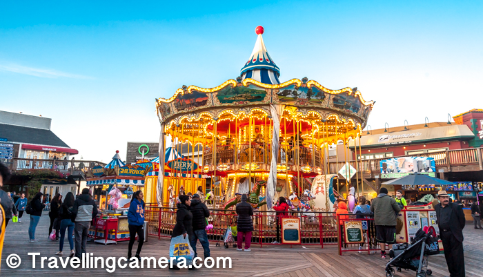 Here is one of the famous ride for kids on Pier-39 market. This market is pretty close to the area where people go for watching sea lions.