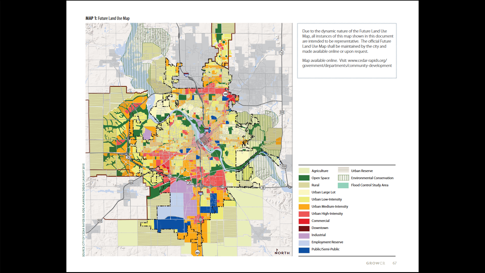 future land use map including areas to be annexed envision cr 67