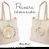 Tote bag y libreta personalizadas: regalos para  niña de comunión