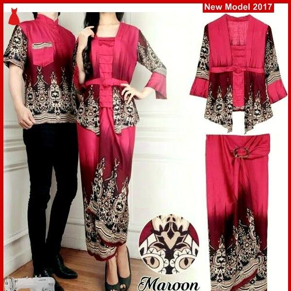 MSF0111 Model Couple Batik Murah Lilian Maroon BMG