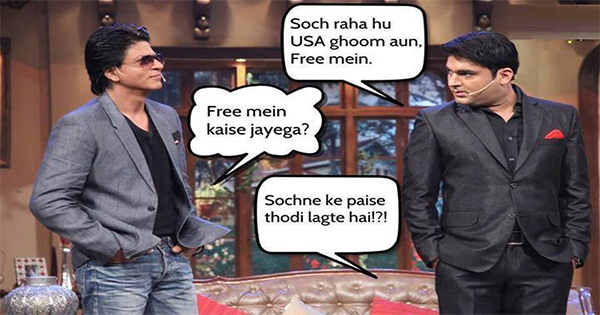 shahrukh khan and kapil sharma comedy joke