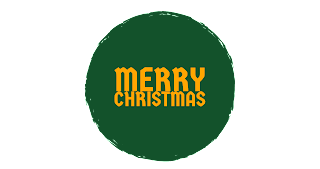 Dark green shades colour Merry Christmas png free download