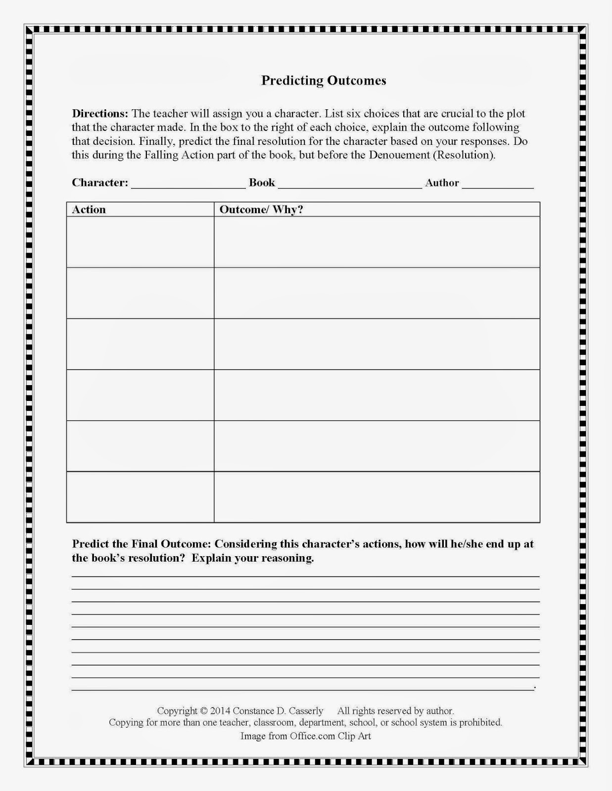 Teach It Write Language Arts Activity
