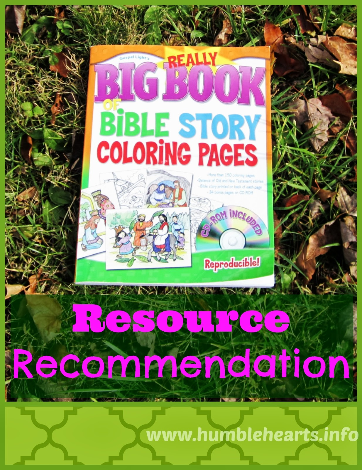 Humble Hearts The Really Big Book Of Bible Story Coloring Pages Resource Recommendation