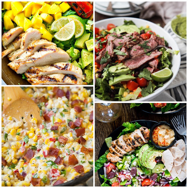 protein heavy healthy salad recipes