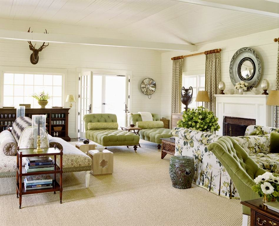 Rustic Living Room By Markham Roberts Inc By: The Peak Of Chic®: Markham Roberts: Decorating The Way I