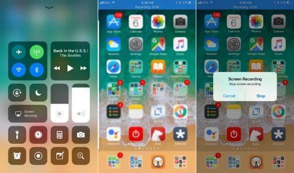 iphone ana ekran kaydı