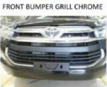 front bumper grille innova luxury