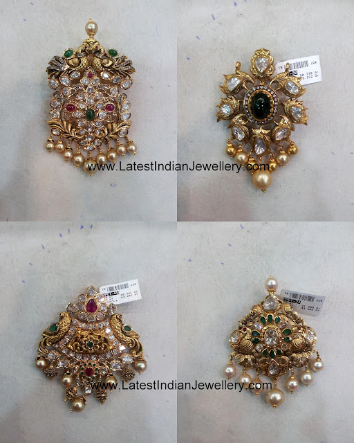Latest Pachi Work Pendant Designs
